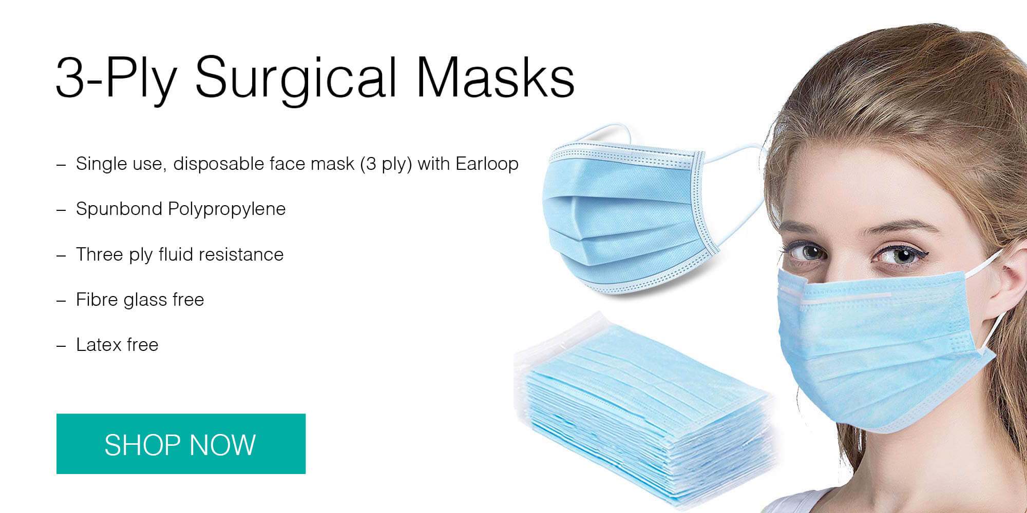 Buy 3-Ply Surgical Masks