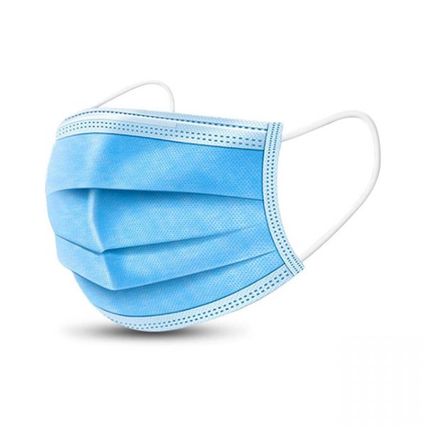 Disposable Medical Mask Disposable Face Mask 3-Ply with Earloop Three Layer Disposable Surgical Mask Great for Coronavirus disease 2019 COVID-19 Virus Protection